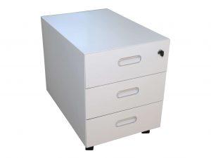 Sedus Metall Rollcontainer kurz in weiß freigestellte Ansicht