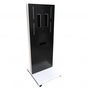 Sedus Monitor Caddy fahrbar weiß schwarz freigestellte Sicht