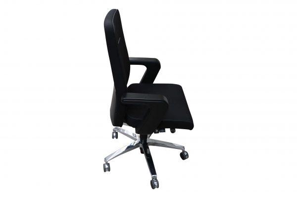 Sedus Of Course Schreibtischstuhl schwarz Mustermöbel Seitenansicht