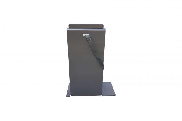 Sedus PC-Gehäusehalter versch. Farben in grau mit langem Boden Sicht von hinten