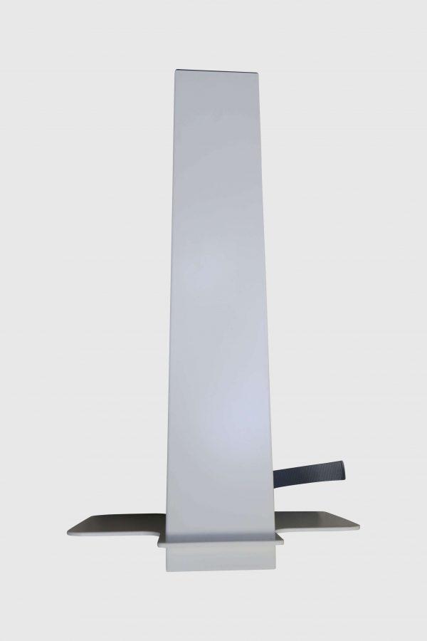 Sedus PC-Gehäusehalter versch. Farben weiß fürs Tischbein Rückansicht