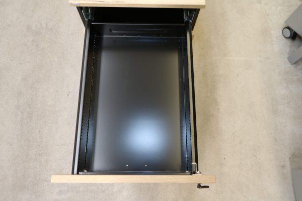 Sedus Rollcontainer kurz Balkeneiche Mustermöbel Schublade 1 geöffnet