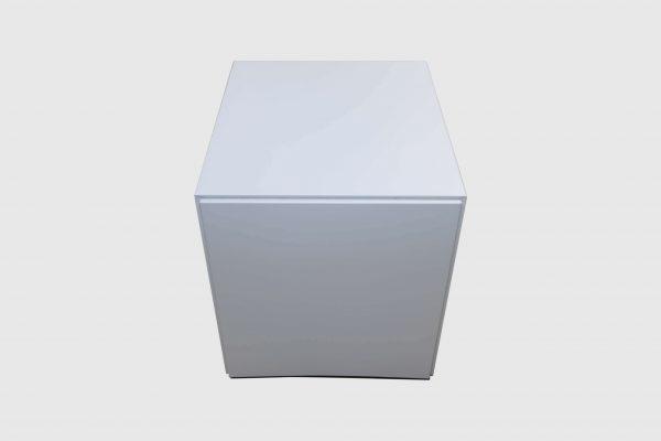 Sedus Rollcontainer Mustermöbel weiß Metall Rückansicht