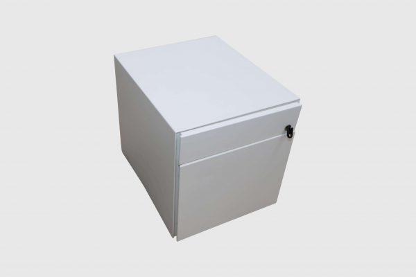 Sedus Rollcontainer Mustermöbel weiß Metall Schrägansich