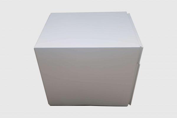 Sedus Rollcontainer Mustermöbel weiß Metall Seitenansicht