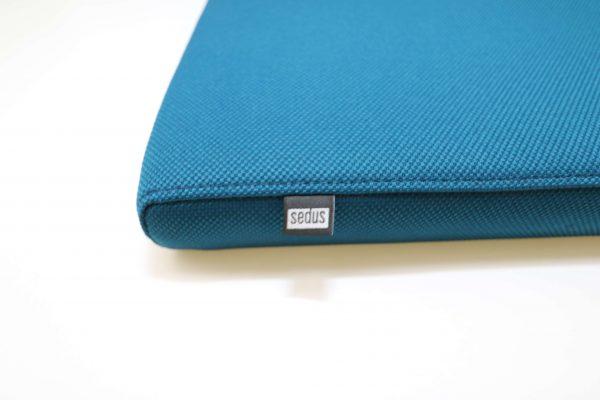 Sedus Sitzkissen blau mit Logo