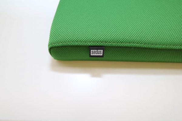 Sedus Sitzkissen grün mit Logo