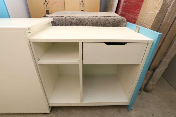 Sedus Standcontainer hellblau weiß geöffnet