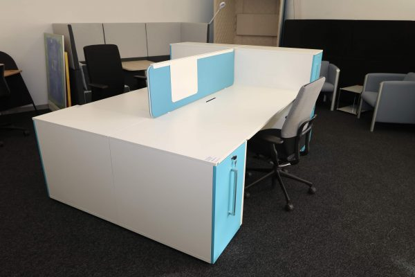 Sedus Standcontainer hellblau weiß Komplettansicht 3