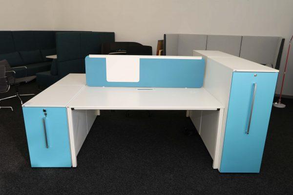 Sedus Standcontainer hellblau weiß Komplettansicht 4