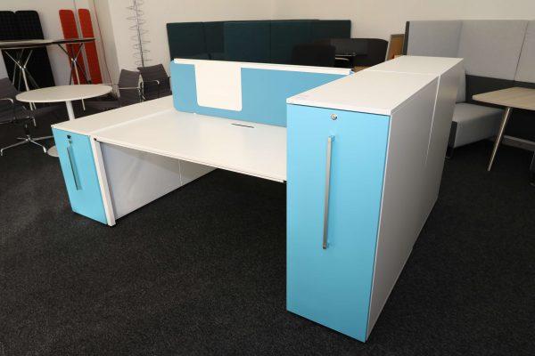 Sedus Standcontainer hellblau weiß Komplettansicht 5