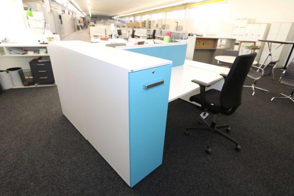 Sedus Standcontainer hellblau weiß Komplettansicht 6