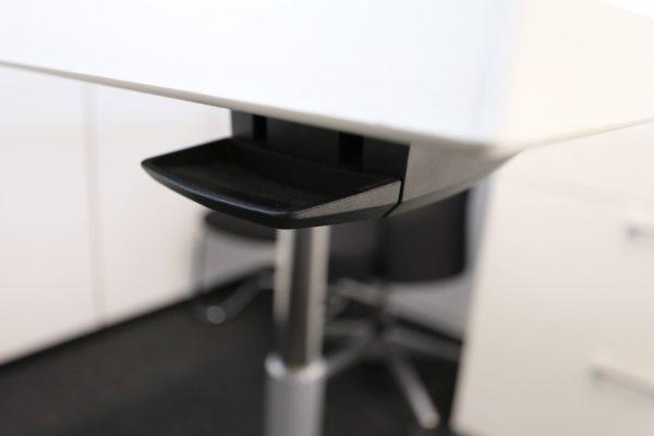 Sedus Steh-Sitz-Tisch weiß hydraulisch höhenverstellbar hydrauliktaster