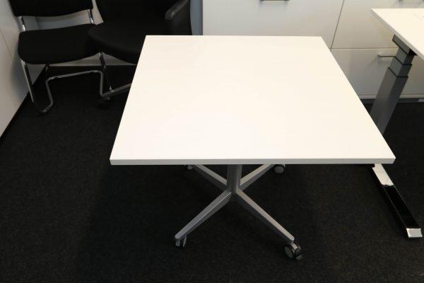 Sedus Steh-Sitz-Tisch weiß hydraulisch höhenverstellbar Platte