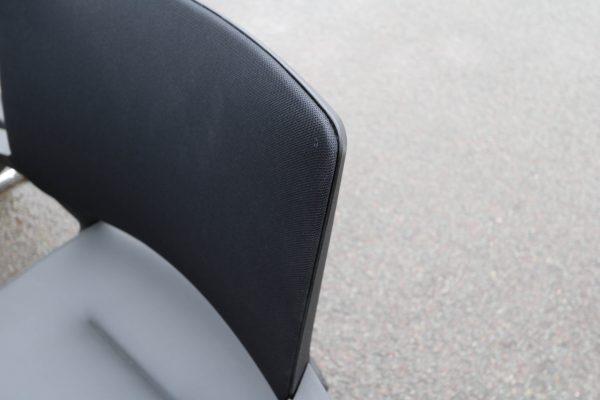 Sedus Swing Up Leder-Freischwinger schwarz 6 Stück Netzrücken im Detail