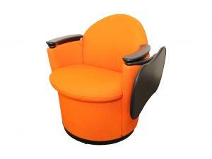 Sessel mit Klapptablar Orange Startseitenbild