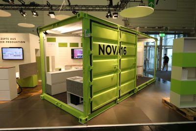 Orgatec 2018 - Knalliger Bürocontainer als Silent Space