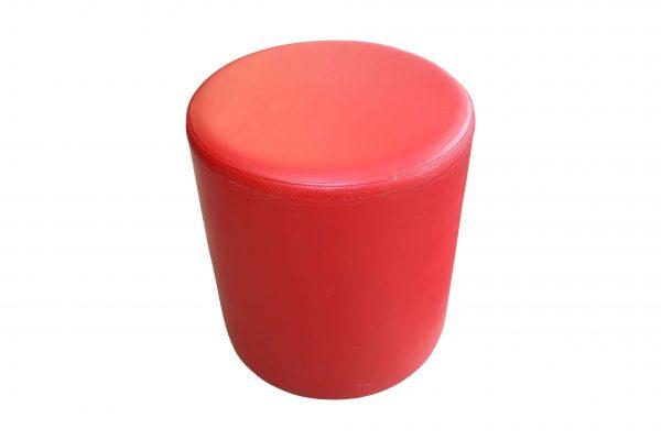 SMV Tube Lederhocker rot einzeln