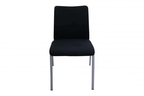 Steelcase 4-Fuß Besprechungsstuhl schwarz stapelbar Frontalansicht