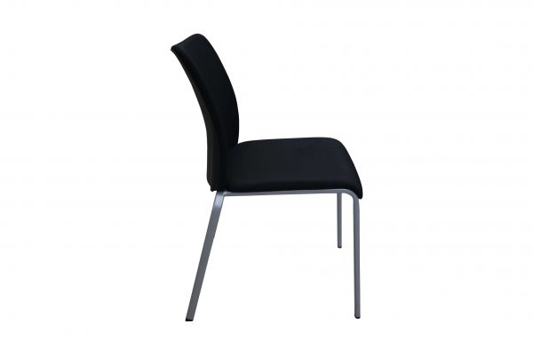 Steelcase 4-Fuß Besprechungsstuhl schwarz stapelbar Seitenansicht