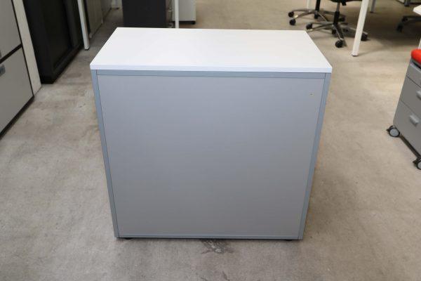 Steelcase Flügeltüren Sideboard 2 OH silbergrau weiß Rückseite