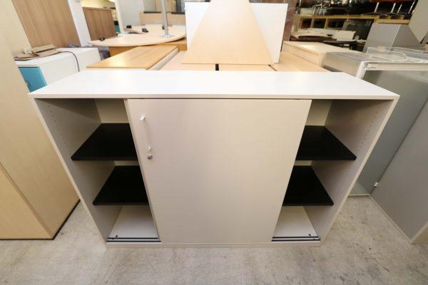 Steelcase Highboard weiß 3OH 160 cm breit geöffnet