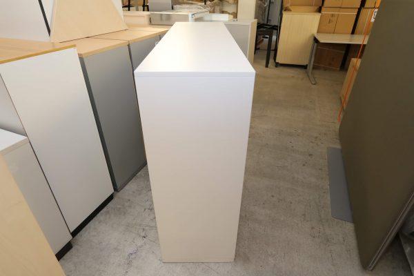 Steelcase Highboard weiß 3OH 160 cm breit Seitenansicht