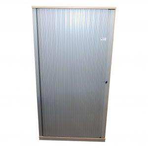 Steelcase Querrollo Schrank 5OH Ahorn Silbergrau Frontal