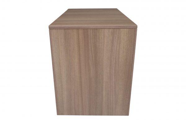 Steelcase Rollcontainer Nussbaum mit Schubladen Rückansicht