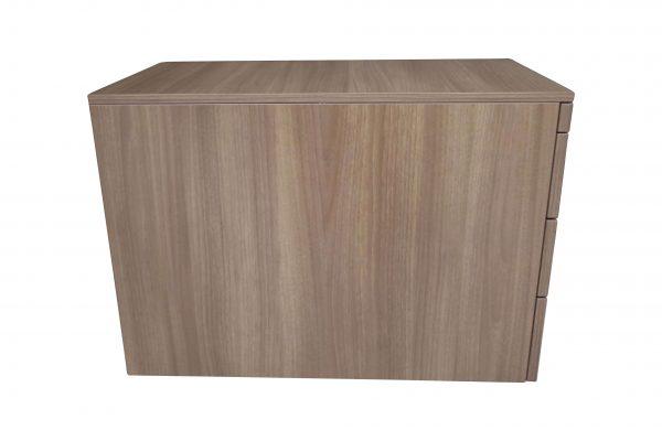 Steelcase Rollcontainer Nussbaum mit Schubladen Seitenansicht