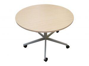 Steelcase runder Tisch rollbar Ahorn in freigestellter Darstellung