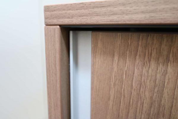 Steelcase  Schiebetüren Sideboard Nussbaum 2OH 120 cm Griffleiste