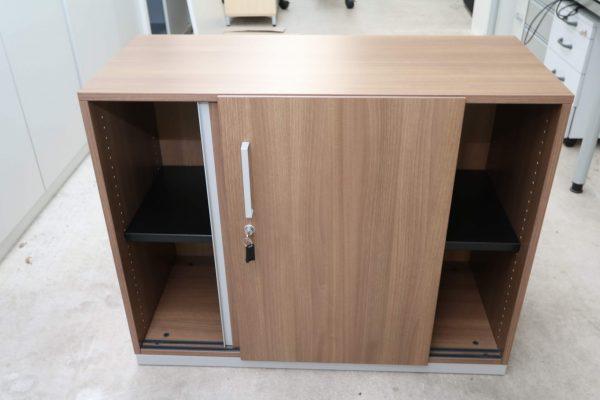 Steelcase  Schiebetüren Sideboard Nussbaum 2OH 120 cm offen