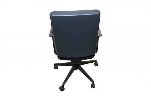 Steifensand Bürodrehstuhl schwarz mit hoher Rückenlehne Rückansicht