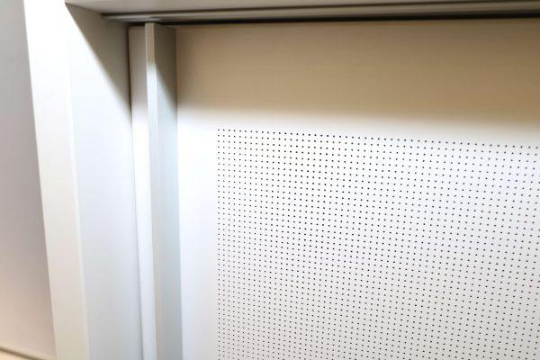 Stoll Highboard Weiß 200 Akustiktürendetailansicht