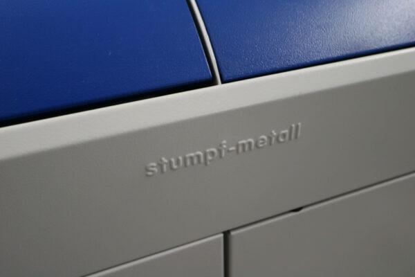 Stumpf Metall Mülleimer blau/lichtgrau unbenutzt Hersteller