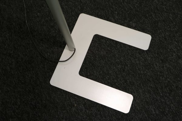 Tobias Grau LED Stehleuchte weiß grau Standfuß