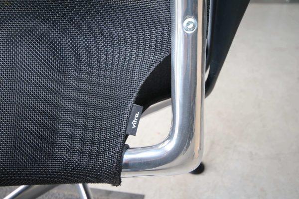 Vitra Meda Conference Chair schwarz Netzrücken Detail