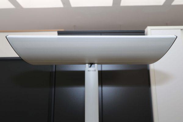 Waldmann Chorus LCS 455 Standleuchte Altweiß Leuchtenschirm Seitenaufnahme