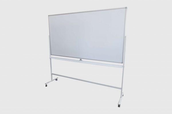 whiteboard-lang-roll-und-drehbar-weiss freigestellte Darstellung