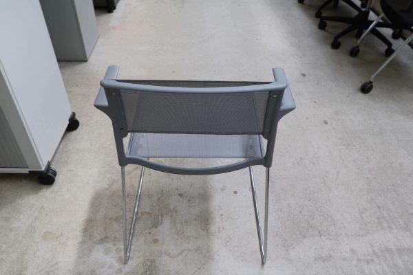 Wilkhahn Aline Stapelstuhl 2 Stück im Paket grauer Stuhl von hinten
