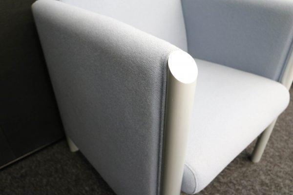 Wilkhahn Loungemöbel-Sessel Cubis graublau aluminium
