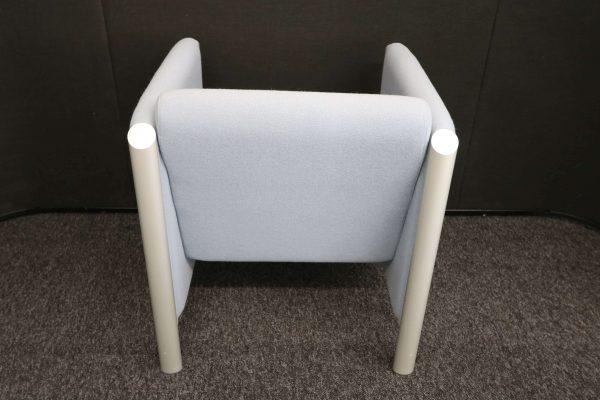 Wilkhahn Loungemöbel-Sessel Cubis graublau Rückseitenaufnahme