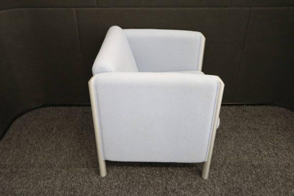 Wilkhahn Loungemöbel-Sessel Cubis graublau Seitenaufnahme