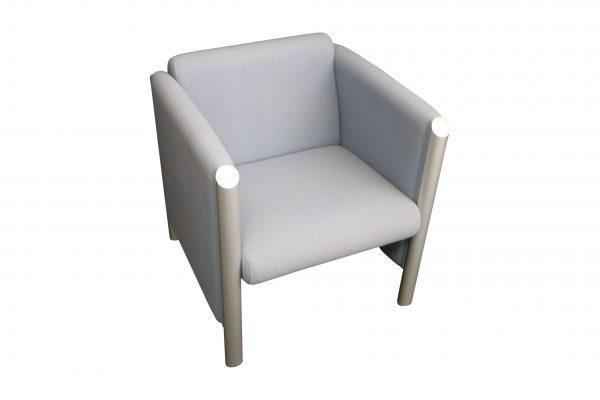 Wilkhahn Loungemöbel-Sessel Cubis graublau Startseitenbild
