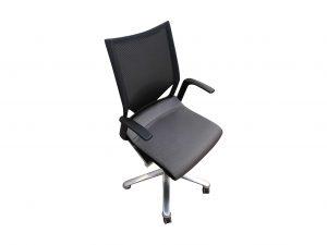 Wilkhahn Modus Bürodrehstuhl silbergrau schwarz freigestellte Darstellung