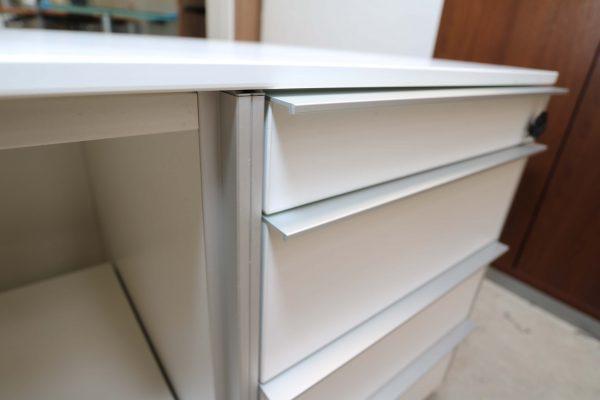 Wini Medienmöbel weiß mit Rechnerfach und Druckerauszug untere Schublade