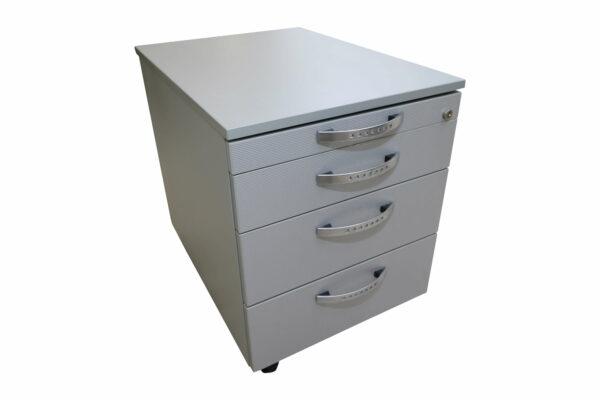 Wini Schreibtisch mit Rollcontainer Rollcontainer freie Sicht