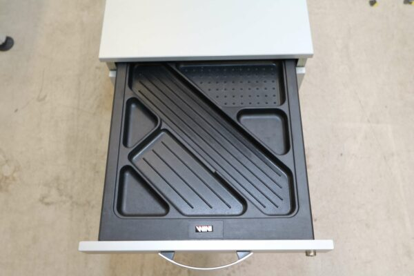 Wini Schreibtisch mit Rollcontainer Rollcontainer Lade für Stifte