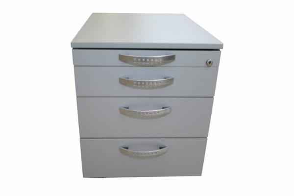 Wini Schreibtisch mit Rollcontainer Rollcontainer von vorne